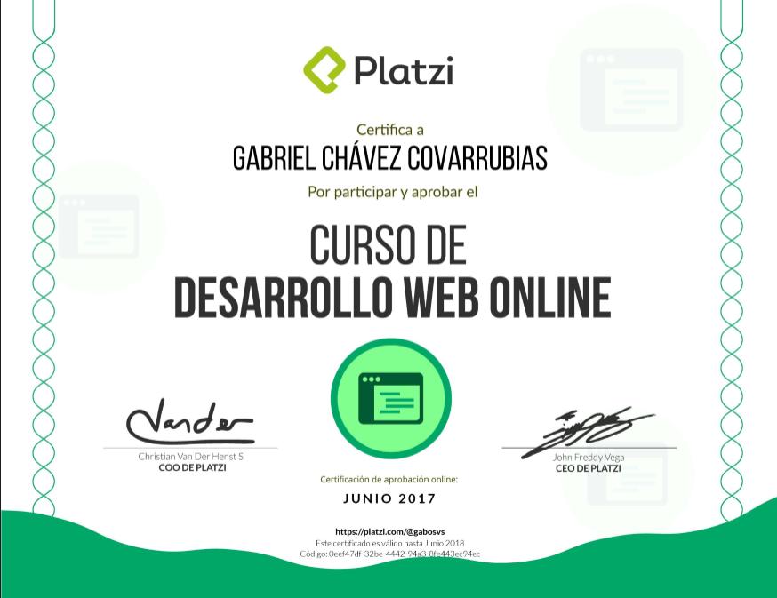 Certificación de Desarrollo Web Online
