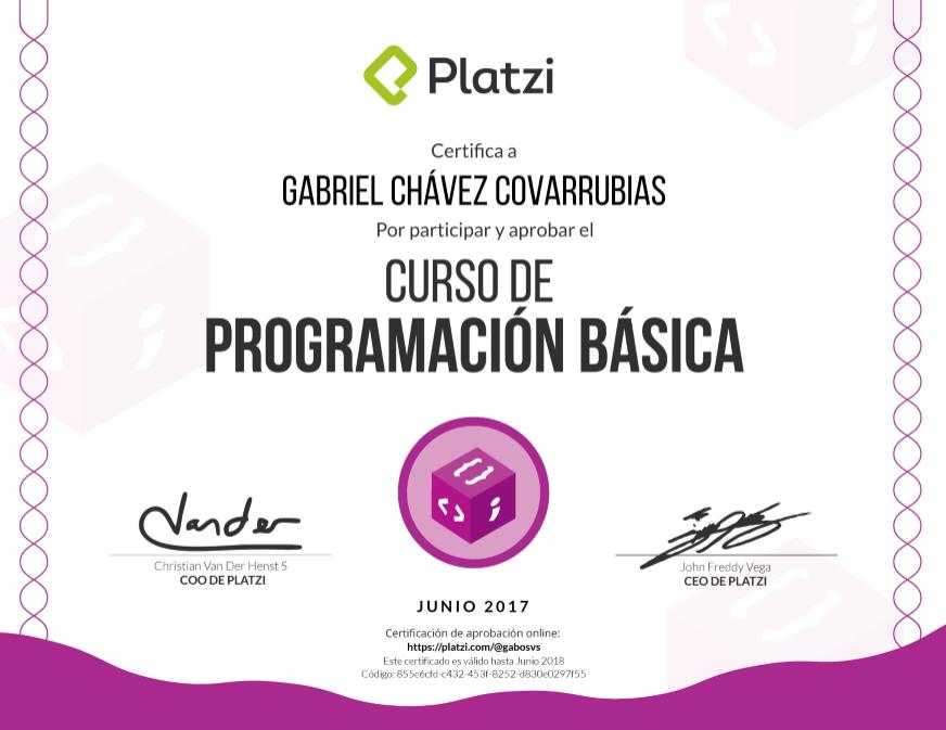 Certificación de programación básica