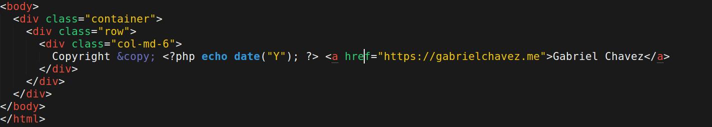 Cómo actualizar automáticamente la fecha del copyright en PHP